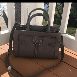 BCBGeneration Taupe/Gray Crossbody Bag